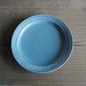 感器工房 波佐見焼 翔芳窯 ローズマリー リムプレート 皿 約24cm ペイルグレー 332754