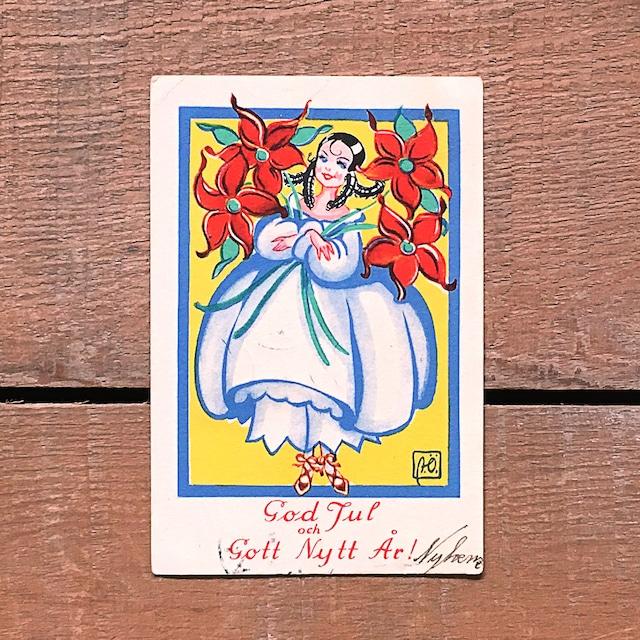 ミニ・クリスマスカード「Astrid Österling(アストリッド・オステリング)」《201211-08》
