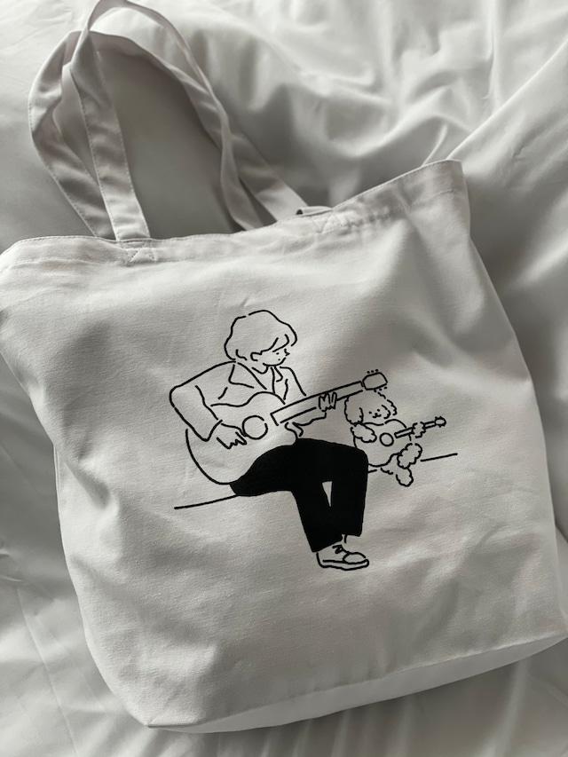 Play the guitar big Tote-bag