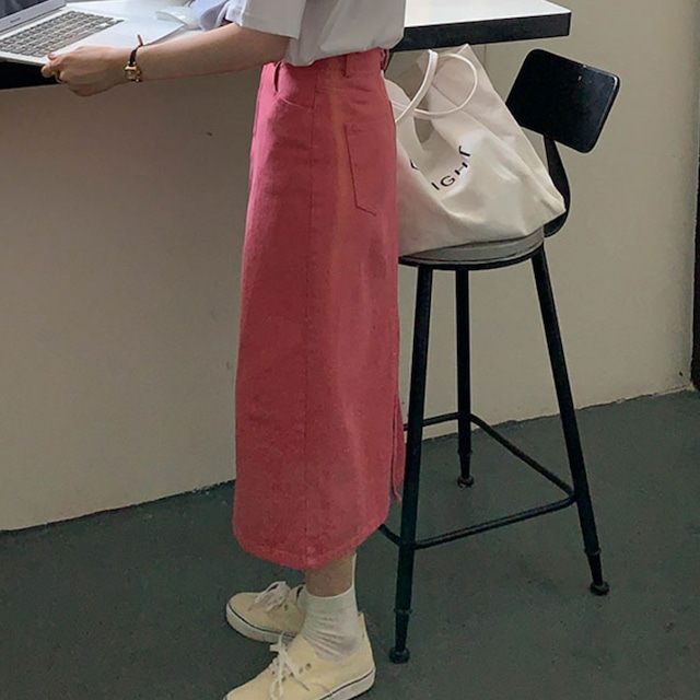 〈カフェシリーズ〉ストロベリーのストレートスカート