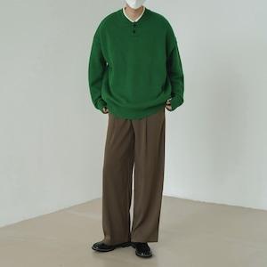 Pullover polo color sweater   b-496