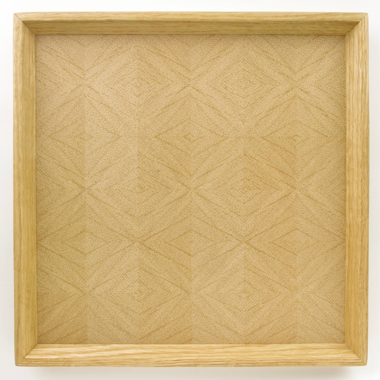 ナラ 正方形のトレー 0025