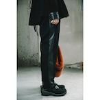 【RehersalL】side line tuck pants(black) /【リハーズオール】サイドラインタックパンツ(ブラック)