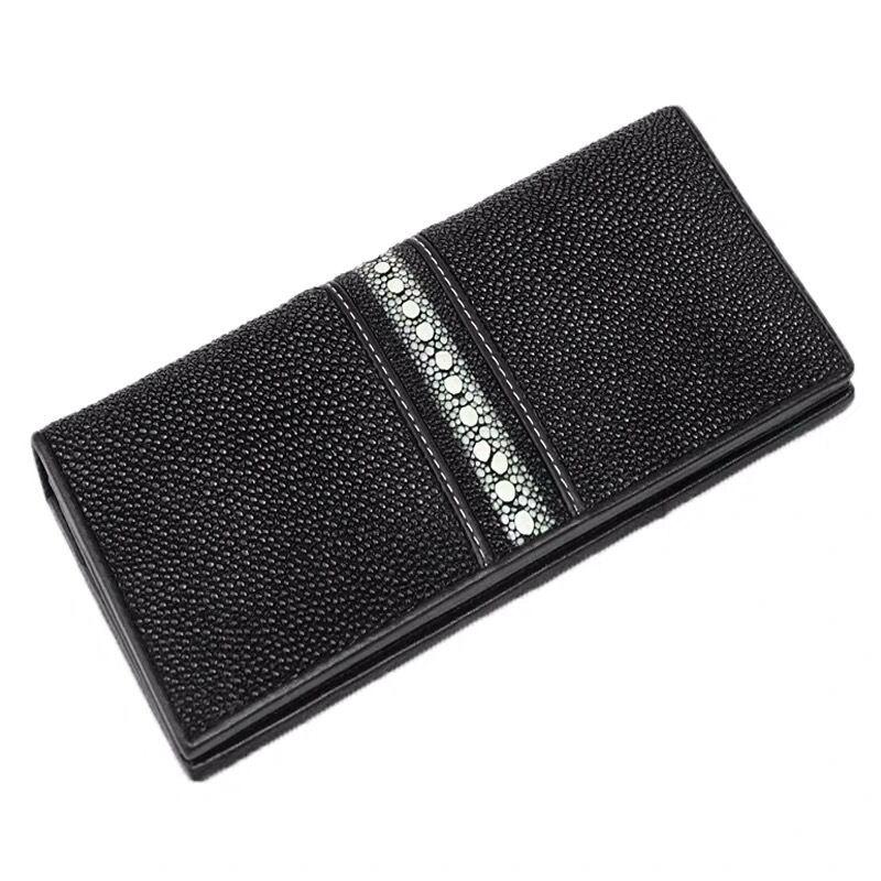 【エイ革財布】ユニセックス 長財布 クラッチ財布 カード財布 スティングレイ 【金運アップ】