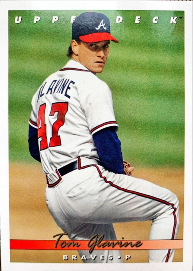 MLBカード 93UPPERDECK Tom Glavine #075 BRAVES