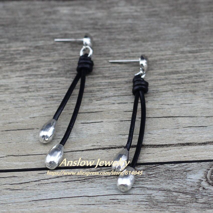 レトロな水滴の形手作りエレガントイヤリングLOW0094AE