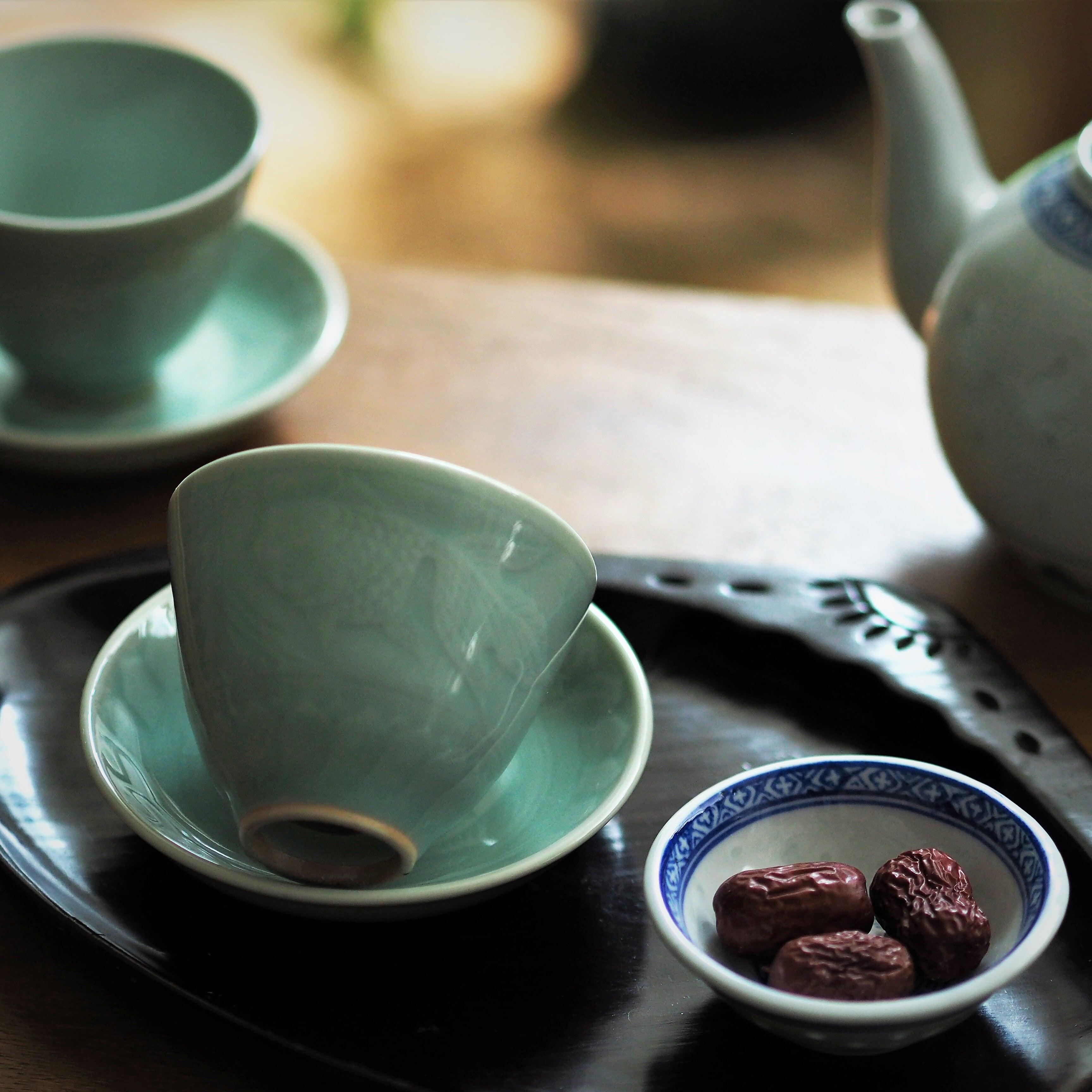 『青磁の茶杯』景徳鎮