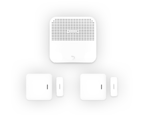 leafee スターターセット (ハブ, 開閉センサーx2)