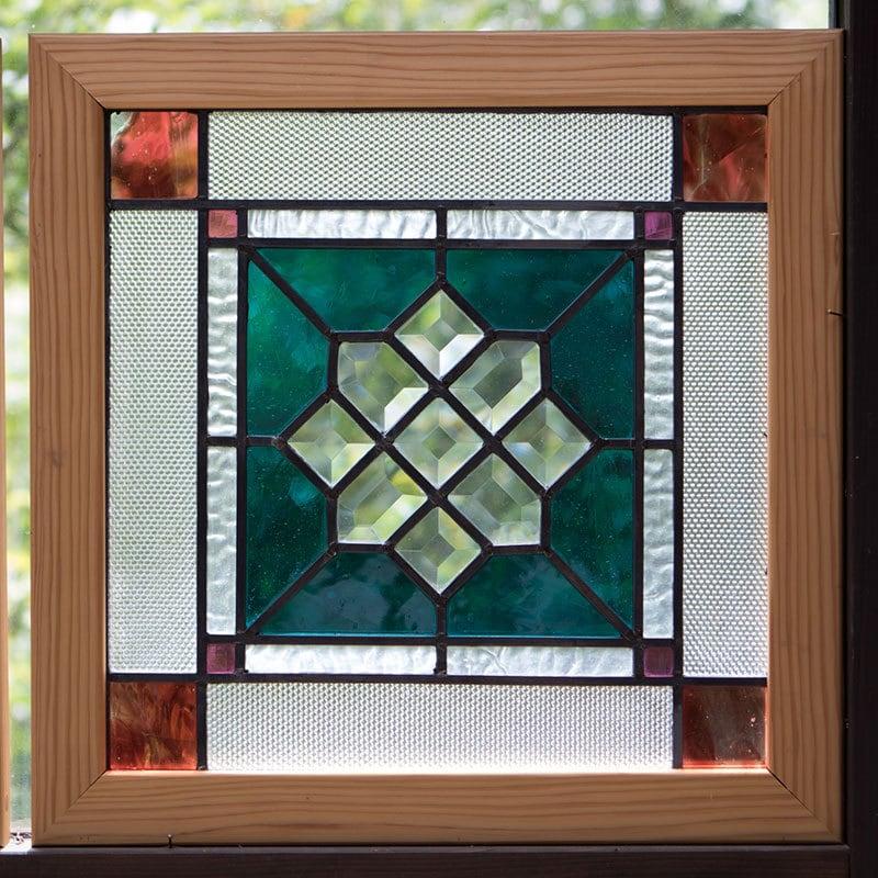 虹を見つけるパネル(ステングラスのアートパネル) 03050210
