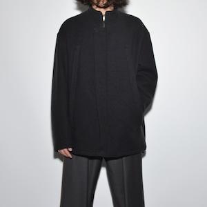 """All Matching - Wool Coat """"Zipper"""" 〈Charcoal Black〉"""