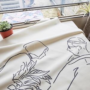 movie fabric poster LL size 4types / 有名映画 ファブリックポスター タペストリー ララランド レオン 韓国雑貨