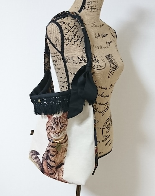 スペインゴブラン猫の3wayバッグ【アメリカンショートヘア様】