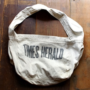"〜1960s ""TIMES HERALD"" News Paper Bag / ヴィンテージ ニュースペーパー バッグ"