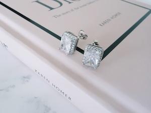 【在庫限り】rectangle stone pierce