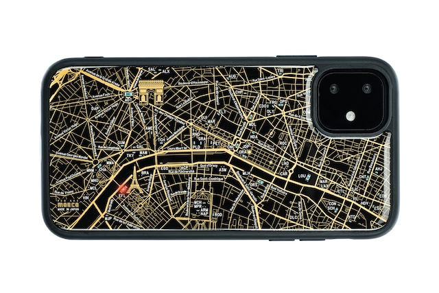 FLASH Paris回路地図 iPhone 11 ケース  黒【東京回路線図A5クリアファイルをプレゼント】