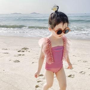 キッズ水着 ロンパース水着 子供水着 女児 女の子用水着 ベビー水着キッズみずぎ スイミング ウェア ジュニア 小学生9334