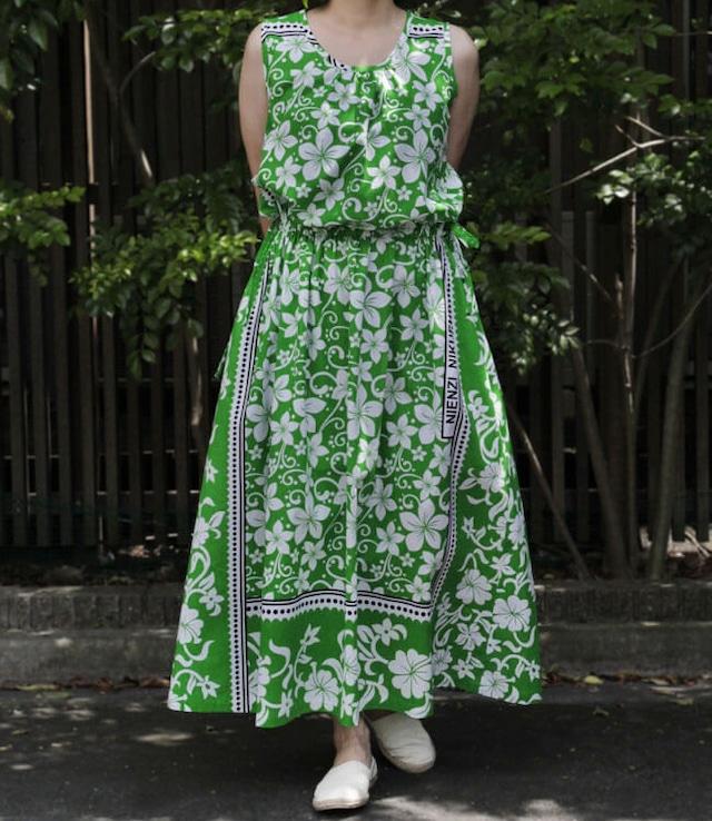 【 送料無料 】サイドリボン・ワンピース|アフリカ布ワンピース