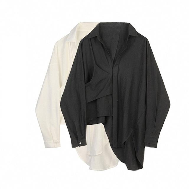 アシンメYシャツ 2色 【210323】