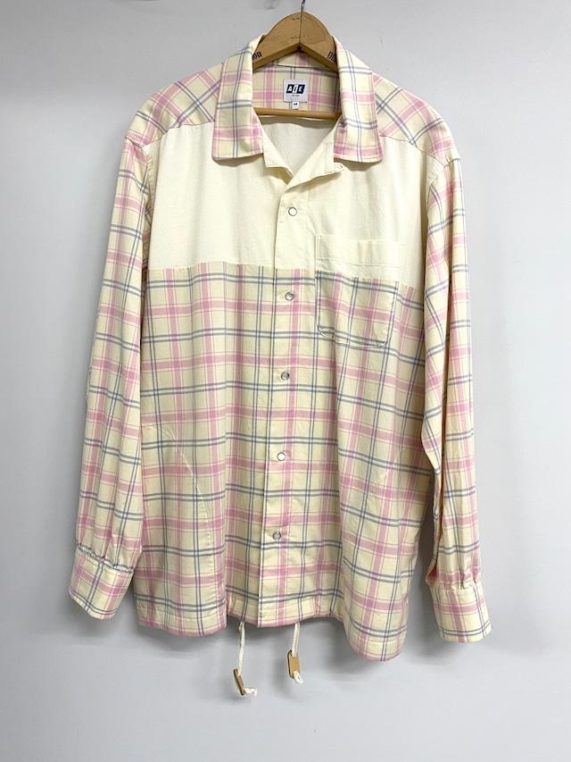 AiE  / Coach Shirt-Cotton Plaid (ivory×pink)
