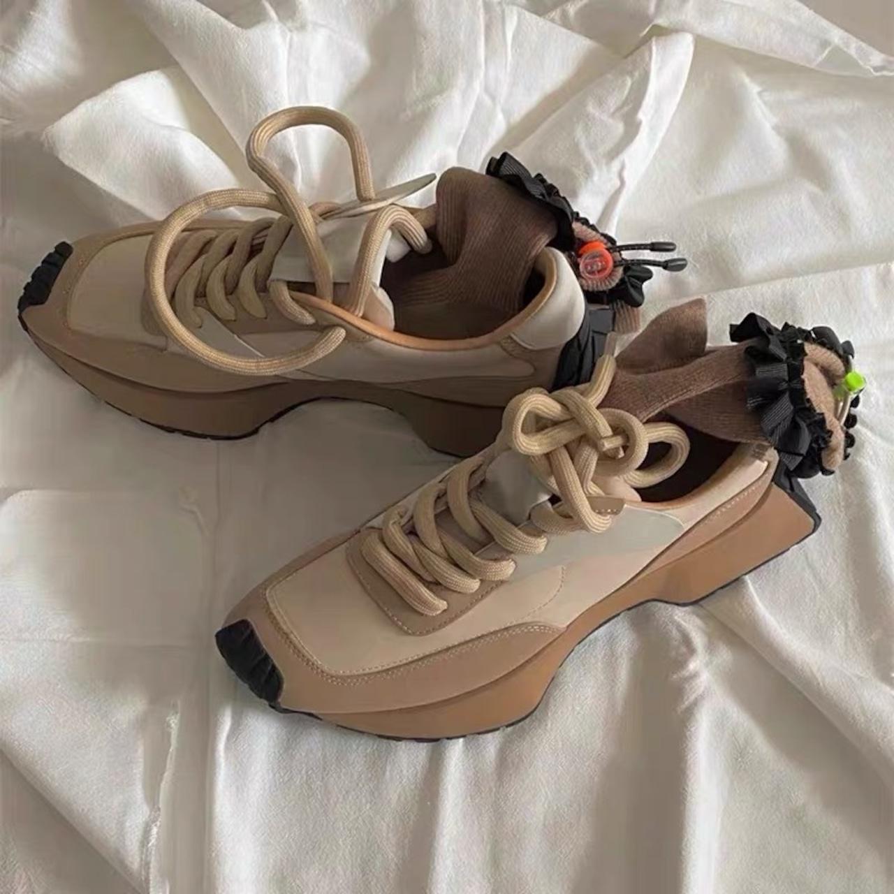 brown color sneaker