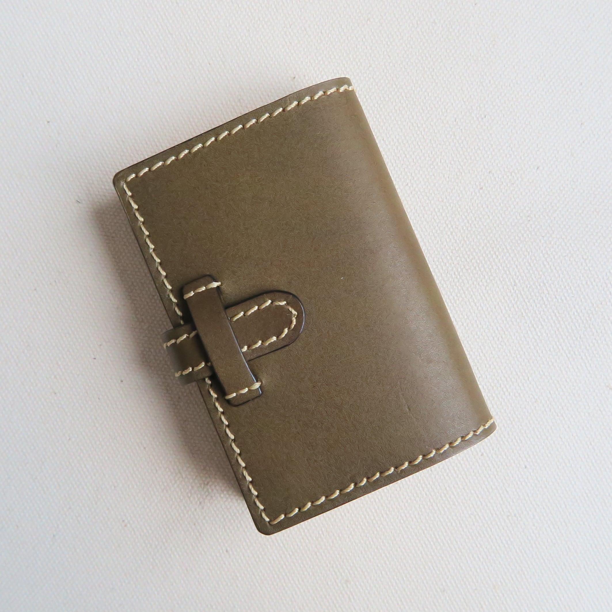 Pocket book card case GREEN