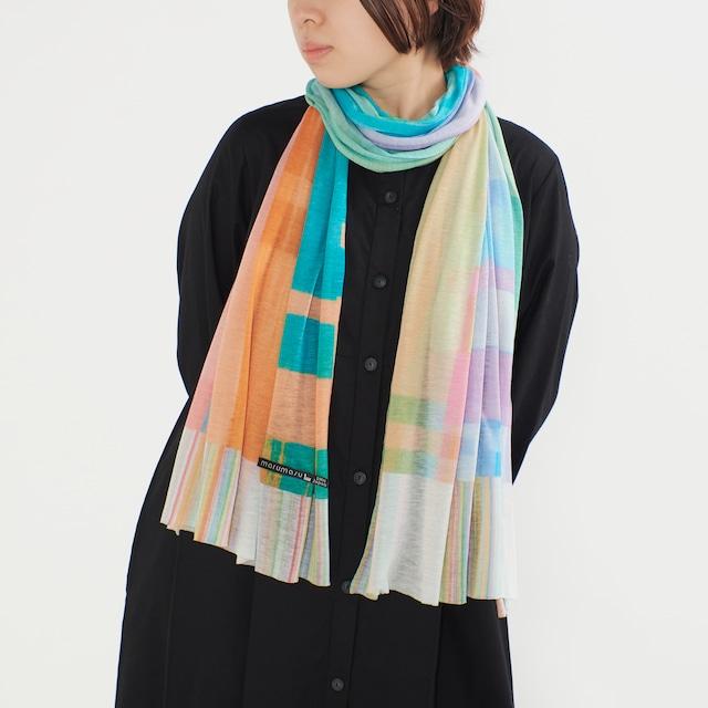 羽織れるストール - FANCY STRIPE - 2color