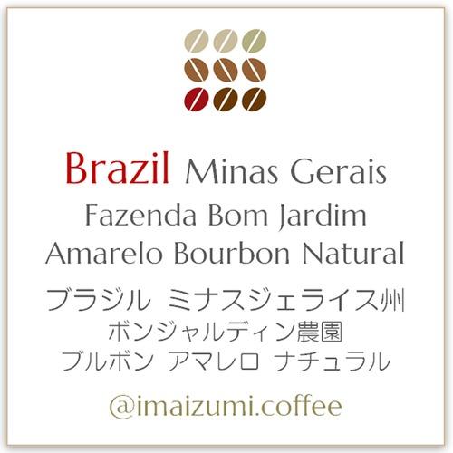 【送料込】ブラジル ボン ジャルディン農園 ブルボン アマレロ - Brazil Fazenda Bom Jardim Bourbon Amarelo - 300g(100g×3)