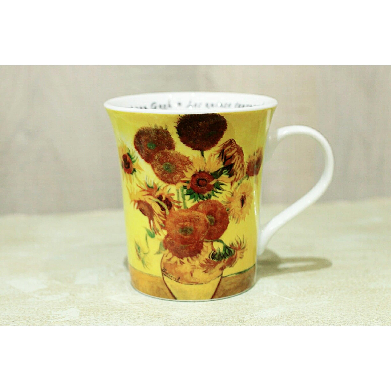 Art Mug  ゴッホ・ひまわり Gogh<マグカップ> KONITZ 浜松雑貨屋 C0pernicus(電子レンジ、食器洗浄機にも対応)