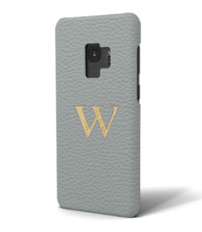 Galaxy Premium Shrink Leather Case (Ice Grey)
