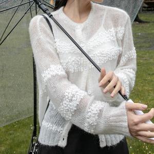 Mohair knit cardigan(モヘアニットカーディガン)b-416