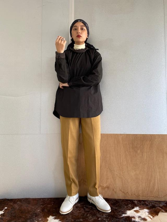 "High waist trousers ""camel"" khadi wool"