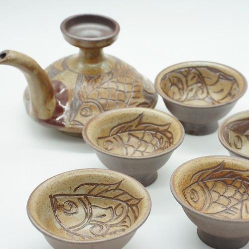 焼き締め カラカラ【金城陶器秀陶房】
