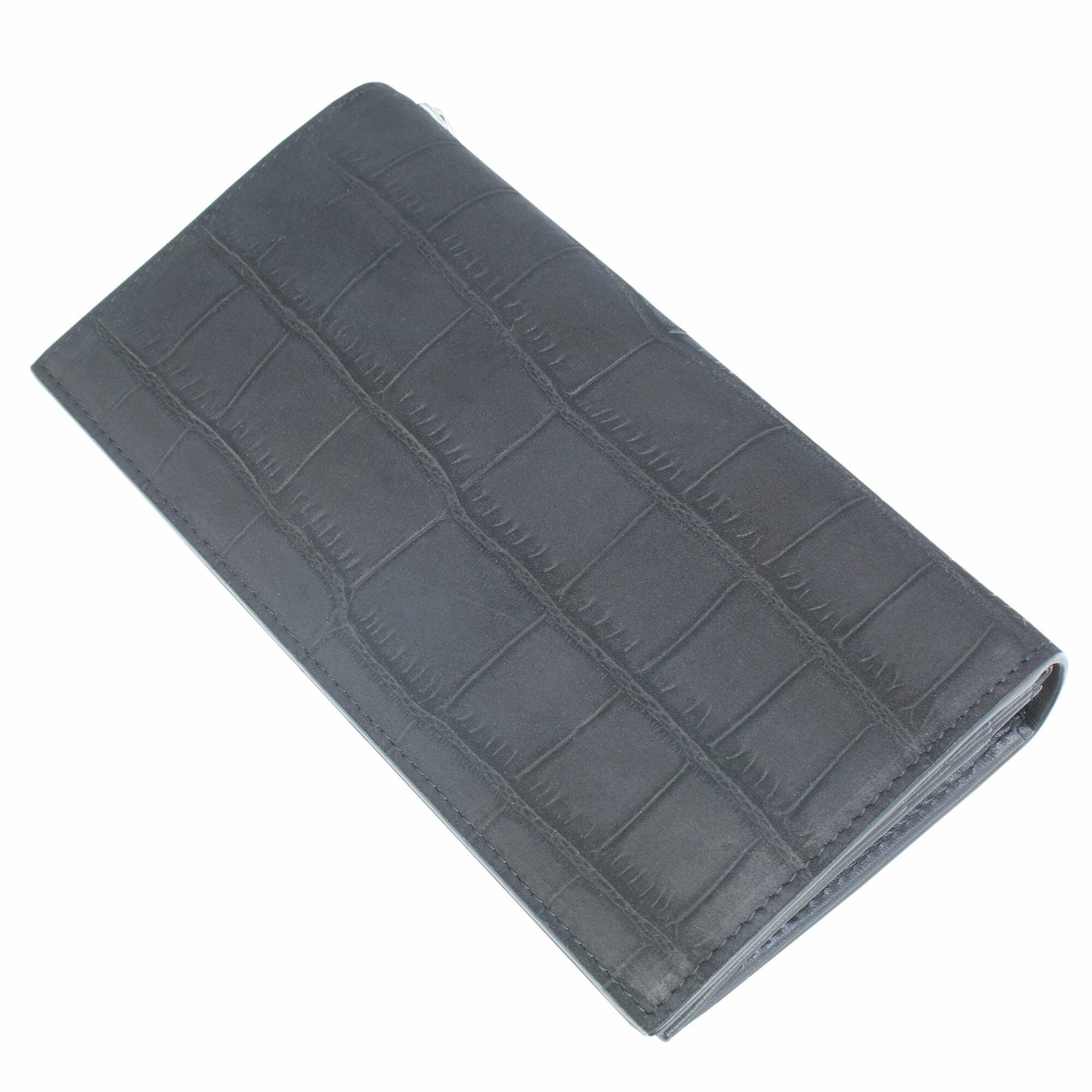 ロングウォレットヌバッククロコスタイル ACW0005 Long wallet nubuck crocodile style