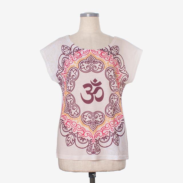 ヨガプリントTシャツ オム3 Yoga print T-shirt Om3