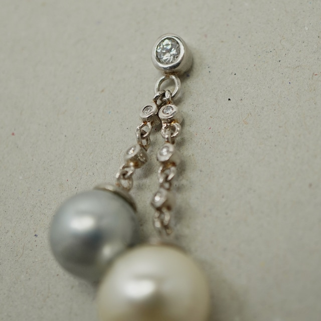 【FRENCH ANTIQUE】SW PEARLS DROP PIERCES