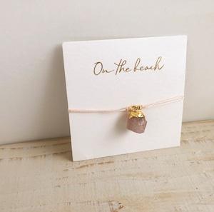 Birth stone bracelet (Rose quarts) / on the beach OBH-43
