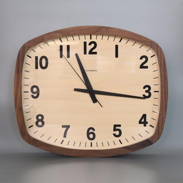 CHAMBLE R-SQUARE CLOCK  WALNUT (電波時計)