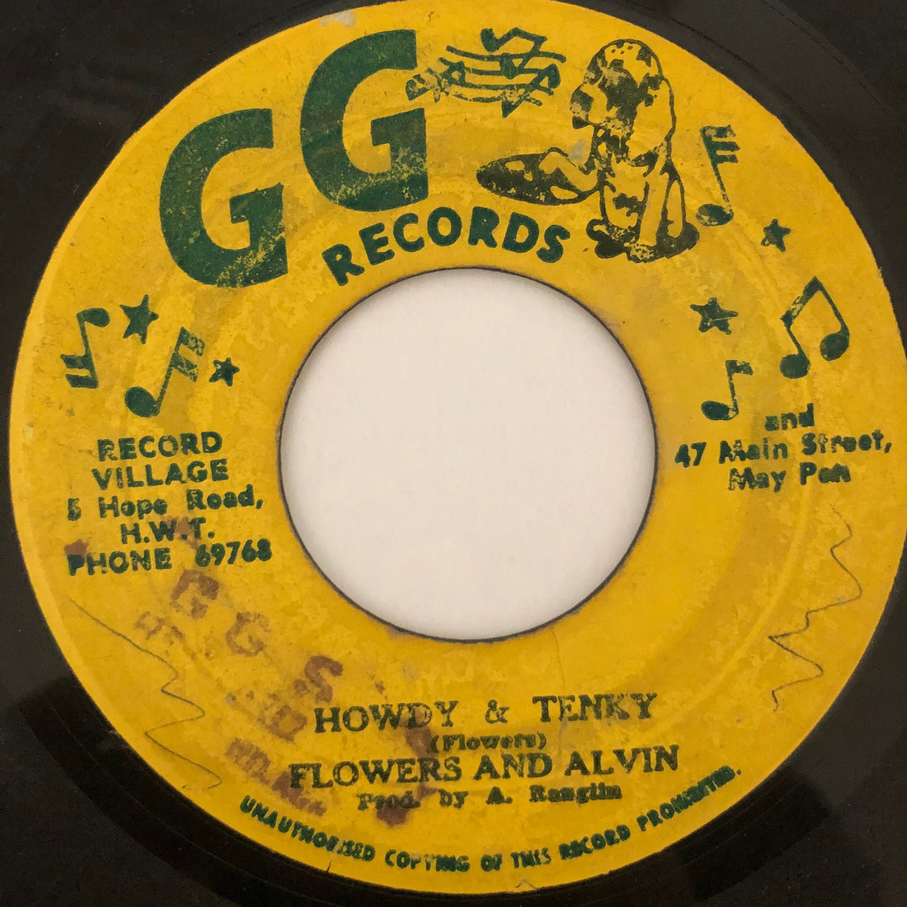 Flowers & Alvin - Howdy & Tenky【7-20514】