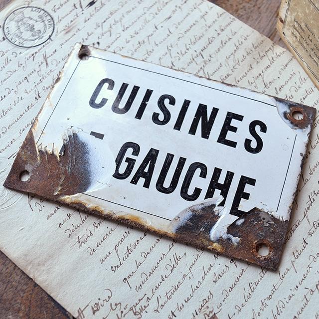 ホーロープレート CUISINES DE GAUCHE