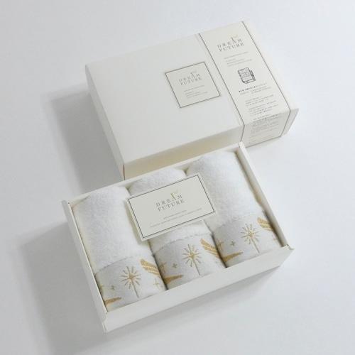 無撚糸(むねんし)高級Hand Towel 3枚SET GOLD / GOLD / GOLD