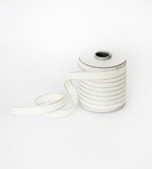Drittofilocottonribbon | spool of 20 yards Natural/Silver【Studio Carta】/コットンリボン スタジオカルタ