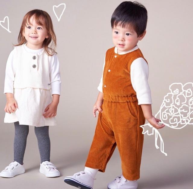 【ベビー服】ワークジャンプスーツ / キャメルオフ / 70~90サイズ