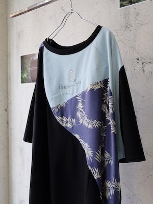 Yoca remake T-shirt (purple aloha)
