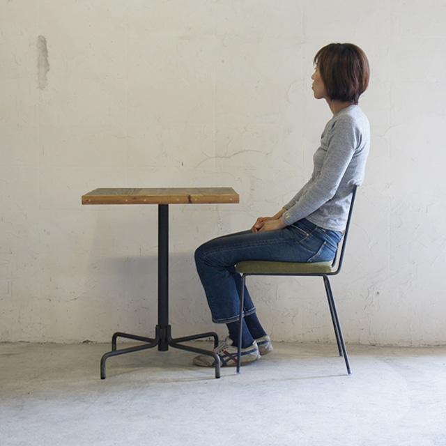 テーブル01 【天板:古材 590*590】KT1701