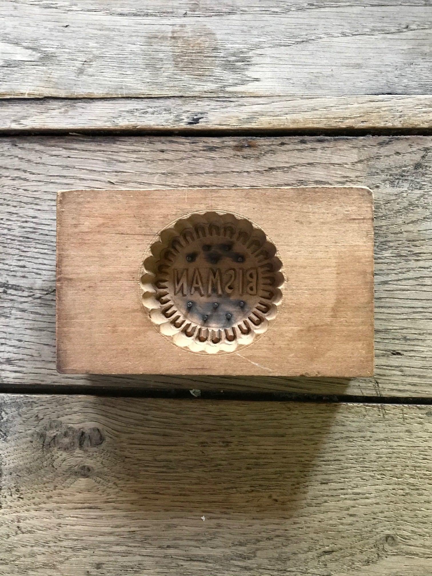 日本製 木製 菓子型 古道具