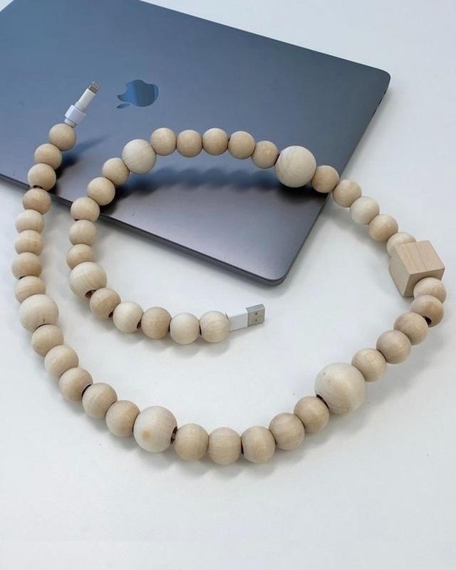 random wood ball cord jewelry