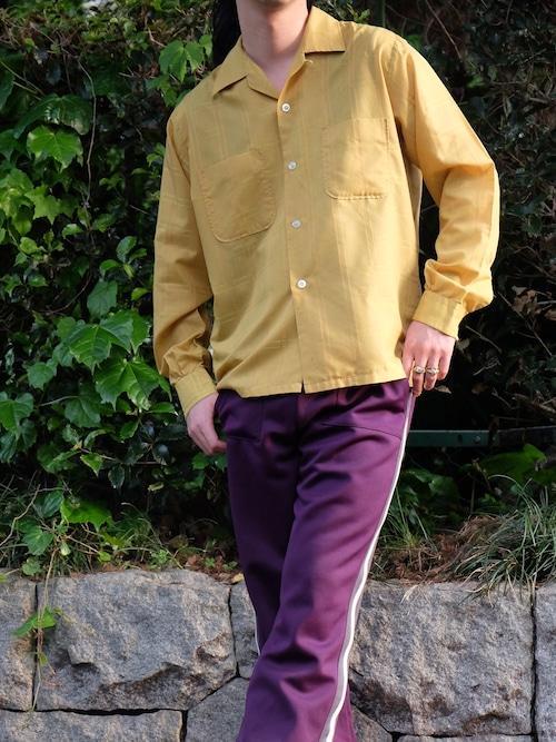 60's open collar shirt