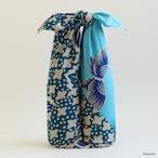 【Furoshiki】104 Shigeyama Sengorou Kyogen   Ajisai&Cho Blue【風呂敷】茂山千五郎家 狂言装束文様 あじさいに蝶 ソラ