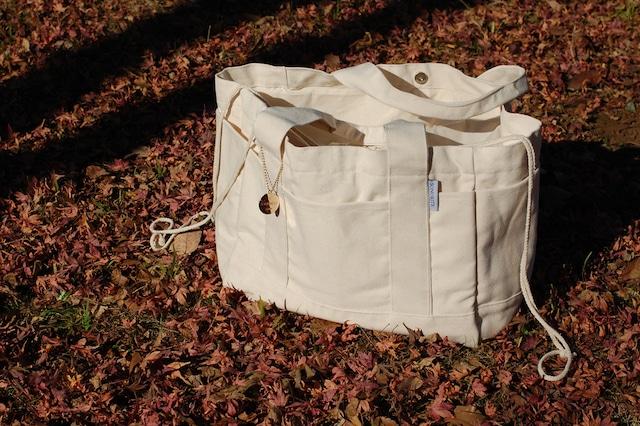 マザーズバッグ  巾着付き コットン ビッグトートバッグ