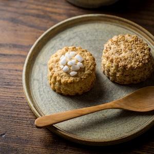 錆浅葱6寸丸皿(フラットプレート・中皿・平皿)/吉永哲子
